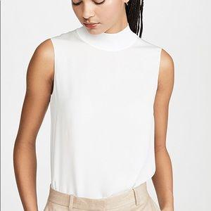 Theory silk mock neck blouse
